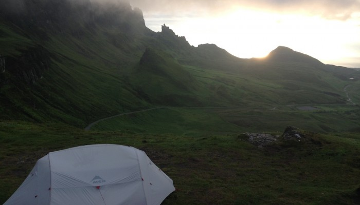 Camping close to the Quiraing