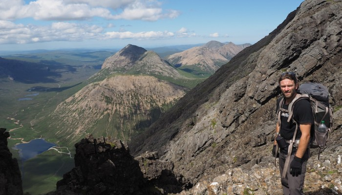 View toward the Cuillin Mountains